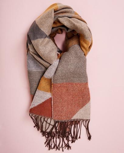 Color block sjaal